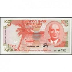 Malawi - Pick 24a - 5 kwacha - Série BR - 01/01/1994 - Etat : NEUF