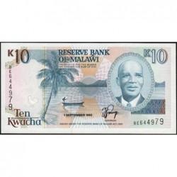 Malawi - Pick 25b - 10 kwacha - Série BE - 01/09/1992 - Etat : NEUF