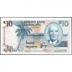 Malawi - Pick 25b - 10 kwacha - Série BS - 01/09/1992 - Etat : NEUF