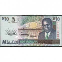 Malawi - Pick 31 - 10 kwacha - Série BF - 01/06/1995 - Etat : NEUF