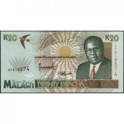 Malawi - Pick 32 - 20 kwacha - Série AF - 01/06/1995 - Etat : NEUF