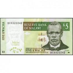 Malawi - Pick 36c - 5 kwacha - Série BC - 01/12/2005 - Etat : pr.NEUF