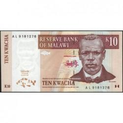Malawi - Pick 37 - 10 kwacha - Série AL - 01/07/1997 - Etat : NEUF