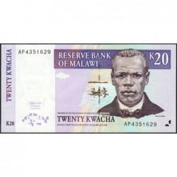 Malawi - Pick 38b - 20 kwacha - Série AL - 01/07/1997 - Etat : NEUF
