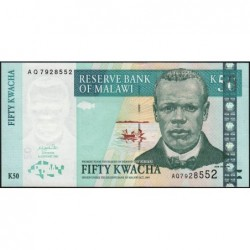 Malawi - Pick 45b - 50 kwacha - Série AQ - 01/01/2003 - Etat : NEUF