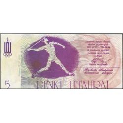 Lituanie - Ville de Siauliai - 5 litaurai - Série Ac - 27/07/1991 - Etat : NEUF