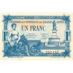 Basses-Alpes - Pirot 20-2b - 1 franc - 1917 - Etat : SUP