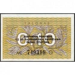 Lituanie - Pick 29b - 0,10 talonas - Série AC - 1991 - Etat : NEUF