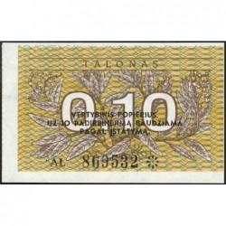 Lituanie - Pick 29b - 0,10 talonas - Série AL - 1991 - Etat : NEUF