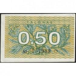 Lituanie - Pick 31a - 0,50 talonas - Série AI - 1991 - Etat : SUP+