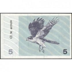 Lituanie - Pick 34b - 5 talonas - Série CI - 1991 - Etat : NEUF
