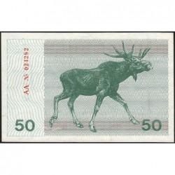 Lituanie - Pick 37a - 50 talonas - Série AA - 1991 - Etat : NEUF