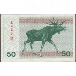 Lituanie - Pick 37b - 50 talonas - Série BS - 1991 - Etat : pr.NEUF