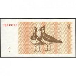 Lituanie - Pick 39 - 1 talonas - Série JD - 1992 - Etat : NEUF