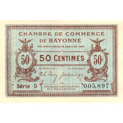 Bayonne - Pirot 21-1 - 50 centimes - 1915 - Etat : NEUF