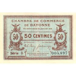 Bayonne - Pirot 21-1a - 50 centimes - Série D - 16/01/1915 - Etat : NEUF