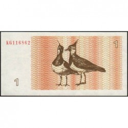 Lituanie - Pick 39 - 1 talonas - Série KG - 1992 - Etat : NEUF
