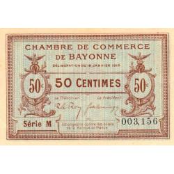 Bayonne - Pirot 21-1b - 50 centimes - Série M - 16/01/1915 - Etat : SPL