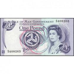 Man (île de) - Pick 40a - 1 pound - Série S - 1990 - Etat : NEUF