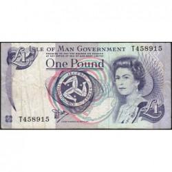 Man (île de) - Pick 40a - 1 pound - Série T - 1990 - Etat : TB