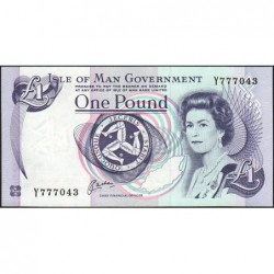 Man (île de) - Pick 40b - 1 pound - Série Y - 1999 - Etat : NEUF