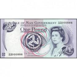 Man (île de) - Pick 40c - 1 pound - Série AA - 2009 - Petit numéro - Etat : pr.NEUF