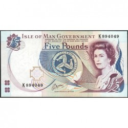 Man (île de) - Pick 41b - 5 pounds - Série K - 1999 - Etat : NEUF