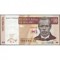 Malawi - Pick 51 - 10 kwacha - Série BH - 01/06/2004 - Etat : NEUF