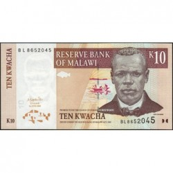 Malawi - Pick 51 - 10 kwacha - Série BL - 01/06/2004 - Etat : NEUF