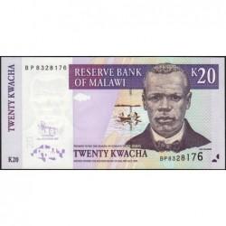 Malawi - Pick 52d - 20 kwacha - Série BP - 31/10/2009 - Etat : NEUF