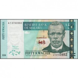 Malawi - Pick 53a - 50 kwacha - Série AT - 31/10/2005 - Etat : NEUF