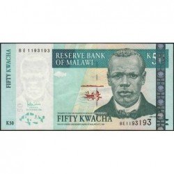 Malawi - Pick 53b - 50 kwacha - Série BE - 31/10/2006 - Etat : SPL