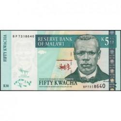 Malawi - Pick 53d - 50 kwacha - Série BP - 31/10/2009 - Etat : NEUF