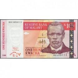 Malawi - Pick 54a - 100 kwacha - Série BB - 31/10/2005 - Etat : pr.NEUF