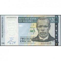 Malawi - Pick 55 - 200 kwacha - Série BK - 31/06/2004 - Etat : NEUF