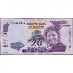 Malawi - Pick 57a - 20 kwacha - Série AA - 01/01/2012 - Etat : NEUF