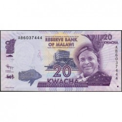Malawi - Pick 57a - 20 kwacha - Série AB - 01/01/2012 - Etat : NEUF