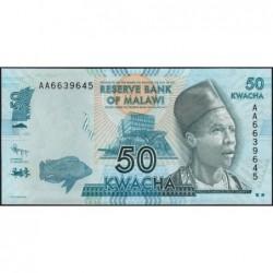 Malawi - Pick 58a - 50 kwacha - Série AA - 01/01/2012 - Etat : NEUF
