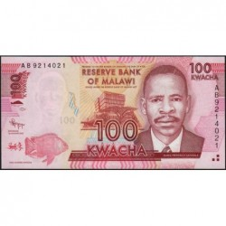 Malawi - Pick 59a - 100 kwacha - Série AB - 01/01/2012 - Etat : NEUF