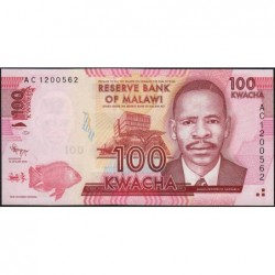 Malawi - Pick 59a - 100 kwacha - Série AC - 01/01/2012 - Etat : NEUF