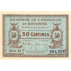 Bayonne - Pirot 21-5a - 50 centimes - Série EE - 16/01/1915 - Etat : SPL