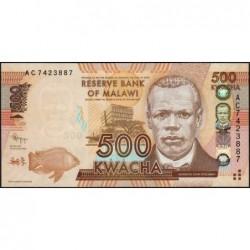 Malawi - Pick 61a - 500 kwacha - Série AC - 01/01/2012 - Etat : NEUF