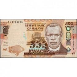Malawi - Pick 61a - 500 kwacha - Série AH - 01/01/2012 - Etat : NEUF