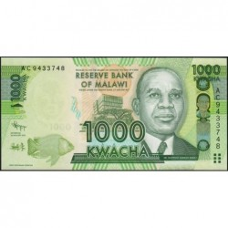 Malawi - Pick 62a - 1'000 kwacha - Série AC - 01/01/2012 - Etat : NEUF