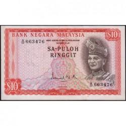 Malaisie - Pick 3 - 10 ringgit - Série B/60 - 1967 - Etat : TTB+