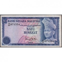 Malaisie - Pick 13a - 1 ringgit - Série G/44 - 1976 - Etat : TB+