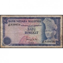 Malaisie - Pick 13a - 1 ringgit - Série J/65 - 1976 - Etat : TB-