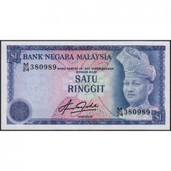 Malaisie - Pick 13b - 1 ringgit - Série M/24 - 1981 - Etat : NEUF