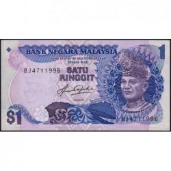 Malaisie - Pick 19 - 1 ringgit - Série BJ - 1982 - Etat : NEUF