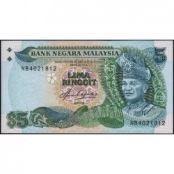 Malaisie - Pick 20 - 5 ringgit - Série NB - 1981 - Etat : NEUF